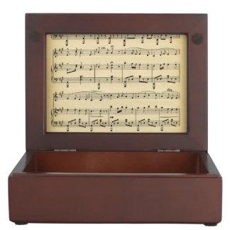 Antique Sheet Music Memory Box