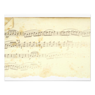 Antique Sheet Music Personalized Announcement