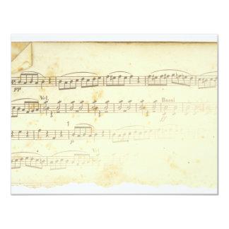 Antique Sheet Music Personalized Announcement