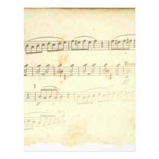 Antique Sheet Music Personalized Letterhead