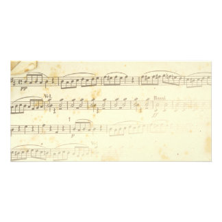 Antique Sheet Music Picture Card