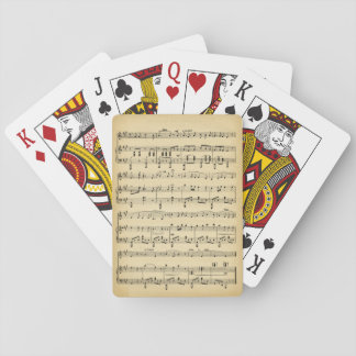 Antique Sheet Music Playing Cards