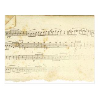 Antique Sheet Music Postcards