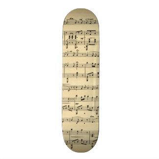 Antique Sheet Music Skateboard