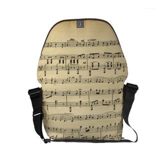Antique Sheet Music Small Messenger Bags