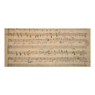 Antique Sheet Music, Song of the Old Man, 1822 Rack Card