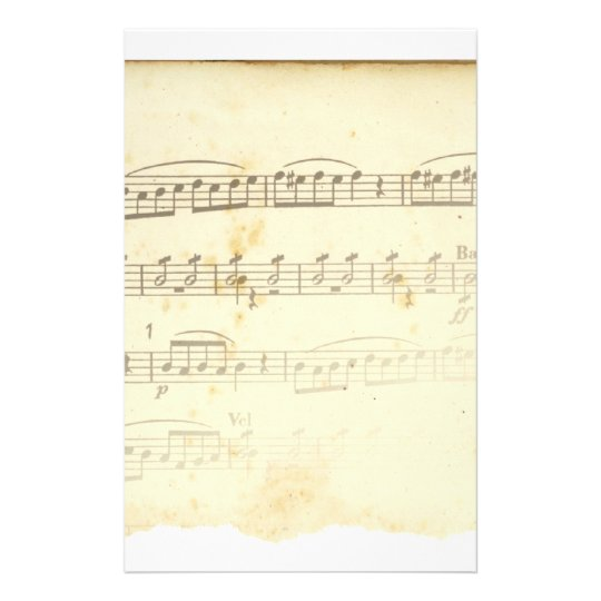 Antique Sheet Music Stationery