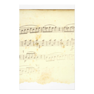 Antique Sheet Music Stationery Paper
