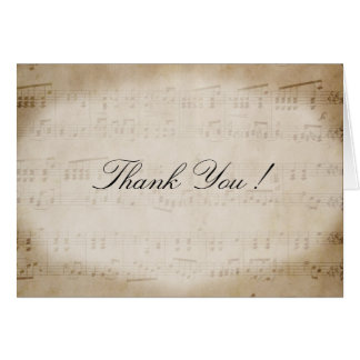 Antique Sheet Music Thank You Card