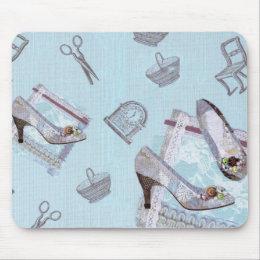 Antique Shoes_Blue Mouse Pad