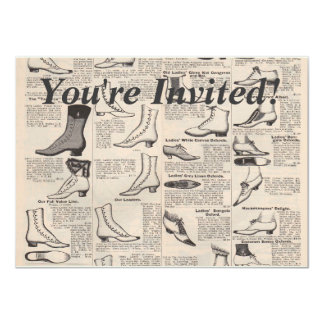 Antique shoes newspaper advertising card