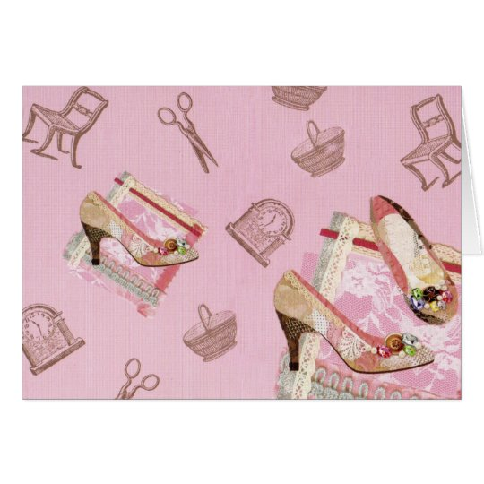 Antique Shoes_Pink Card