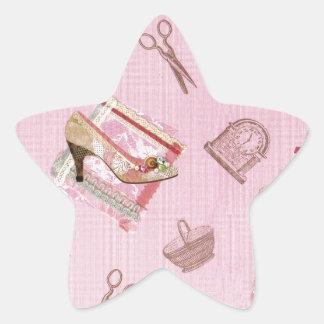 Antique Shoes_Pink Star Sticker