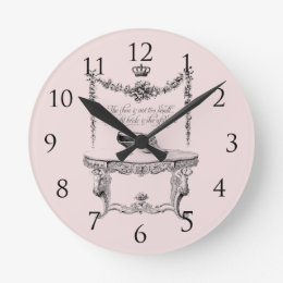 Antique Shoes Wall Clock