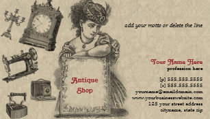 Antique dealer business cards templates zazzle antique shop antique dealer vintage art business card reheart Gallery