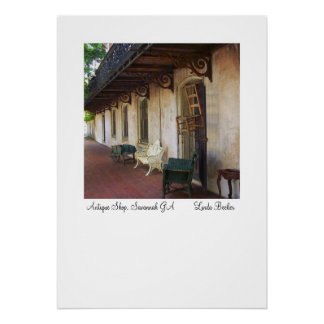 Antique Shop in Savannah GA Poster