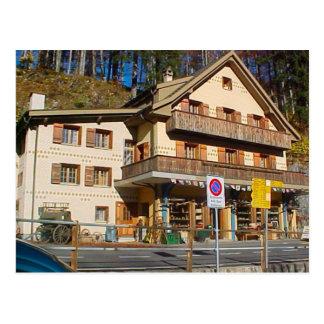 Antique shop in the former Brunig Hohe Hotel Postcard