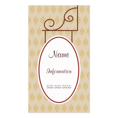 Vintage Antique Scroll Store Sign Business Cards