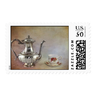 Antique Silver Tea Pot and Bone China Cup Postage