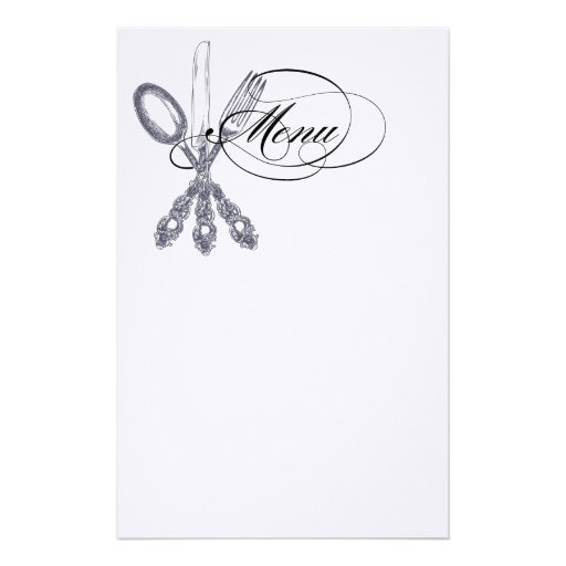 Antique Silverware Personalized Stationery