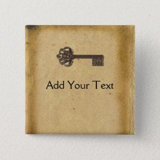Antique Skeleton Key Button