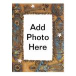 Antique Skeleton Key Frame Add Your Own Photo Postcard