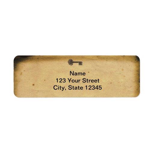 Antique Skeleton Key Custom Return Address Labels