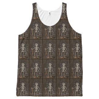 Antique Skeleton Spooky Gothic All-Over Print Tank Top