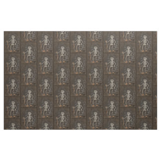 Antique Skeleton Spooky Gothic Monster Fabric