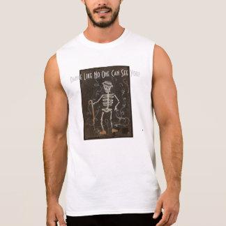 Antique Skeleton Spooky Gothic Monster Sleeveless Tee