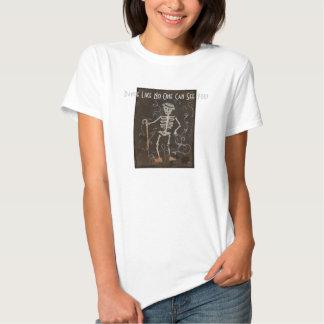 Antique Skeleton Spooky Gothic Monster Tee Shirt