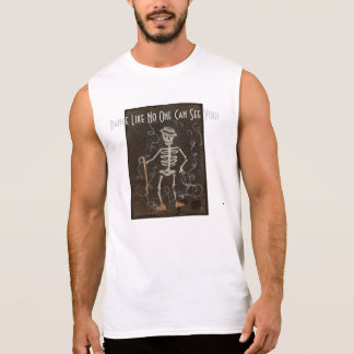 Antique Skeleton Spooky Gothic Monster Sleeveless T-shirts