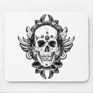 Antique skull line art Fantasy horror art Mousepad