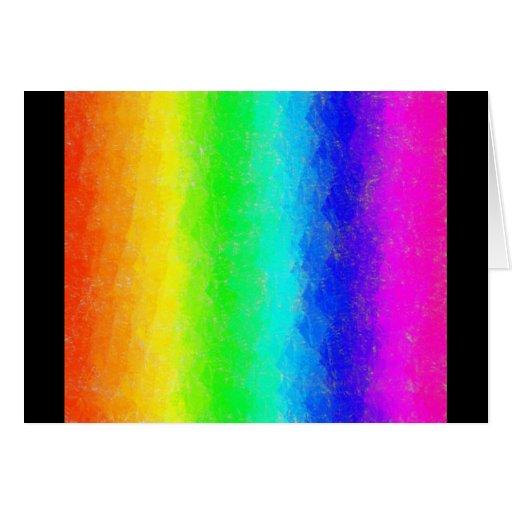 Antique Smudges Rainbow Card