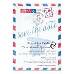 airmail, destination wedding, save the date, love