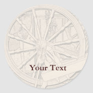Antique Spinning Wheel Arts Craft Sticker Name Tag at Zazzle