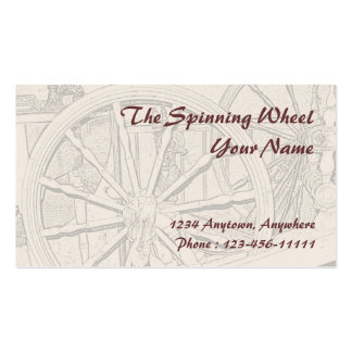 Antique Spinning Wheel Arts Crafts Business Card