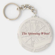 Antique Spinning Wheel Arts Crafts Keyring Basic Round Button Keychain at Zazzle