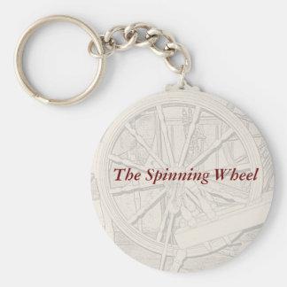Antique Spinning Wheel Arts Crafts Keyring Key Chain