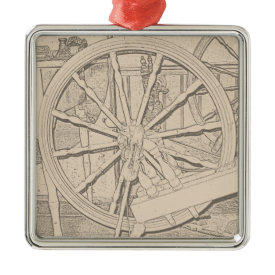 Antique Spinning Wheel Arts Crafts Ornament ornament