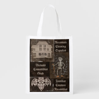 Antique Spooky Gothic Goth Cute Trio Grocery Bags