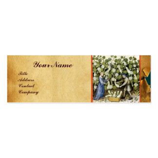 ANTIQUE SQUASH HARVEST WAX SEAL MONOGRAM Double-Sided MINI BUSINESS CARDS (Pack OF 20)