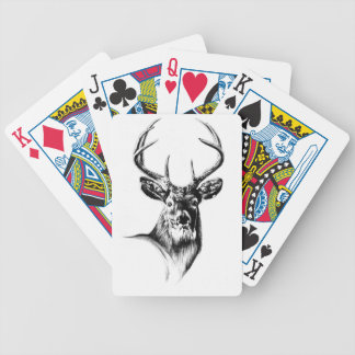 Antique stag art drawing handmade nature bicycle playing cards