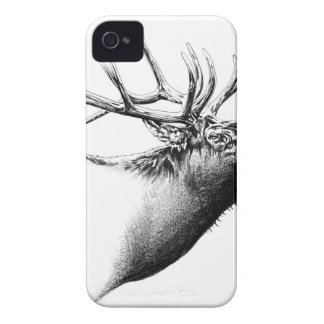 Antique stag art drawing handmade nature iPhone 4 Case-Mate case