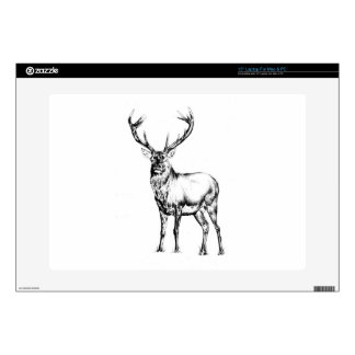 Antique stag art drawing handmade nature laptop skin