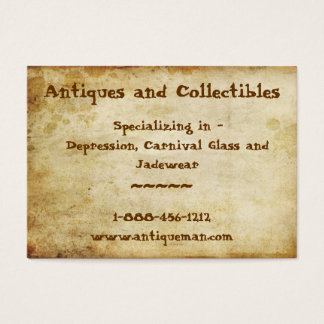 Antique Stained Business Card