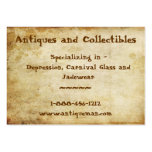 Antique Stained Business Cards