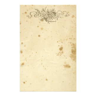 Antique Stained Floral Anchor Stationery