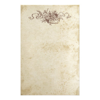 Antique Stained Floral Anchor Stationery Paper