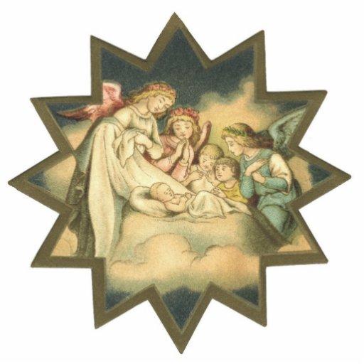 Antique Star/Angels Ornament Cut Out